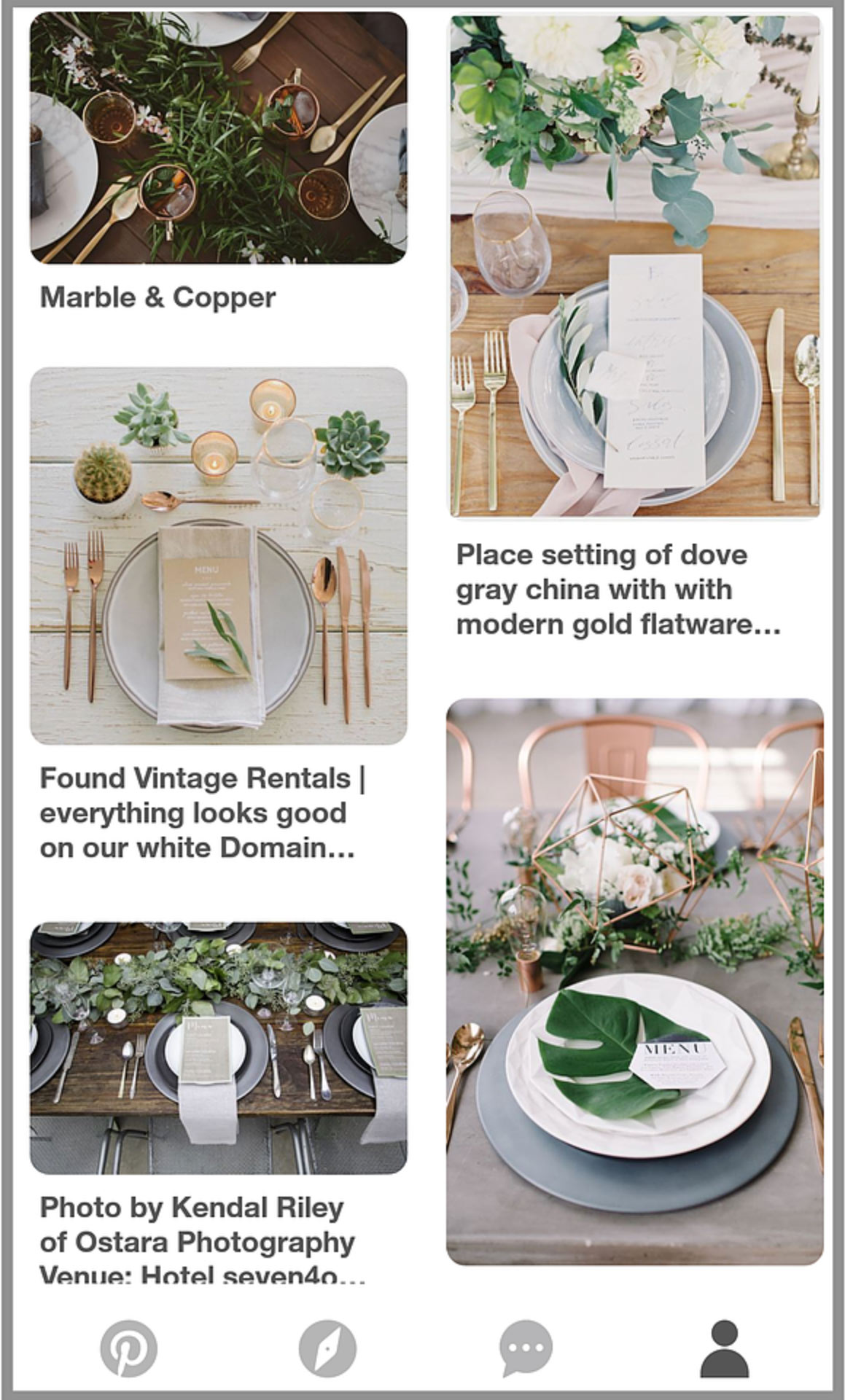 wedding planner moodpboard