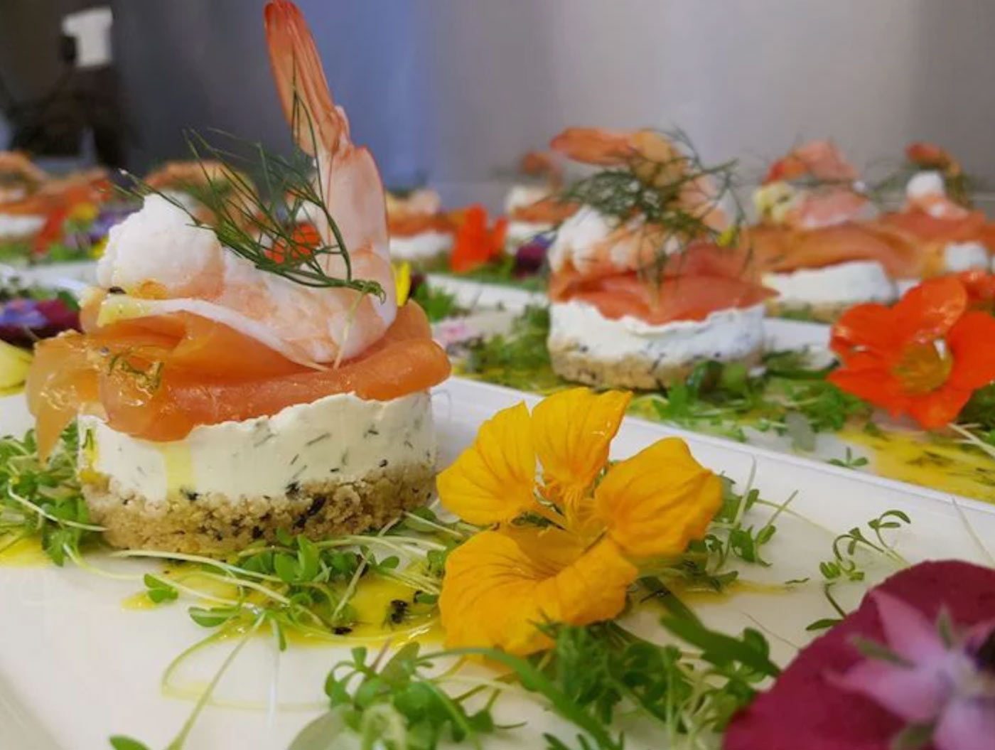 locally sourced fresh sustainable wedding food