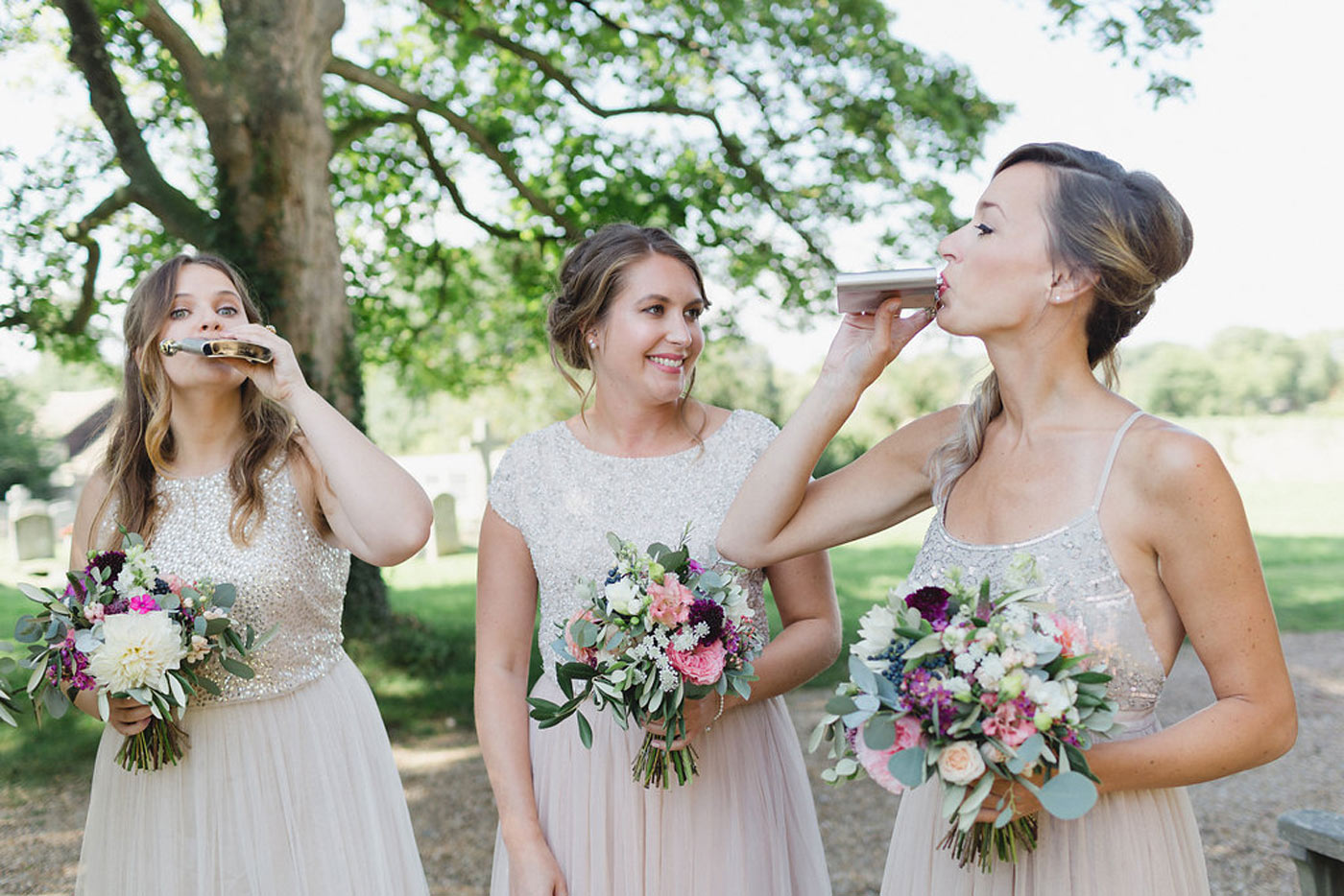 bridesmaids fun wedding