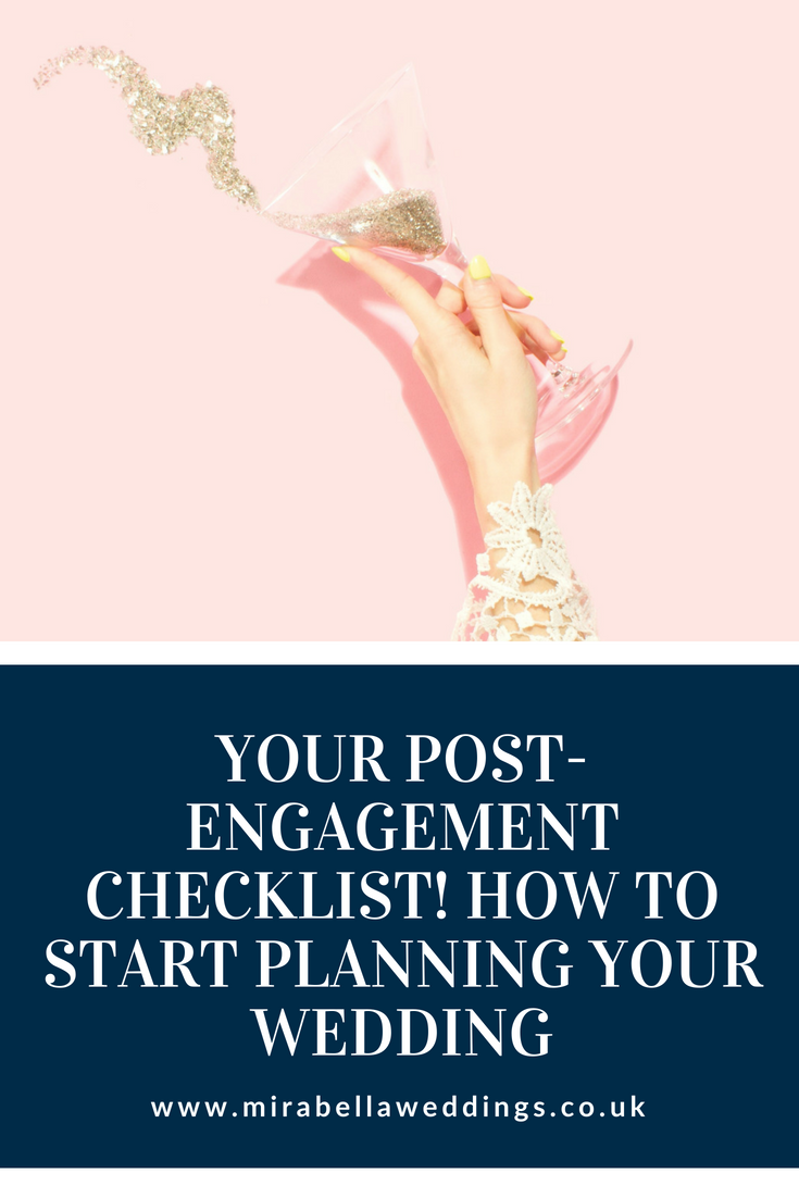 Newly engaged? Read our checklist to kickstart your wedding planning! www.mirabellaweddings.co.uk