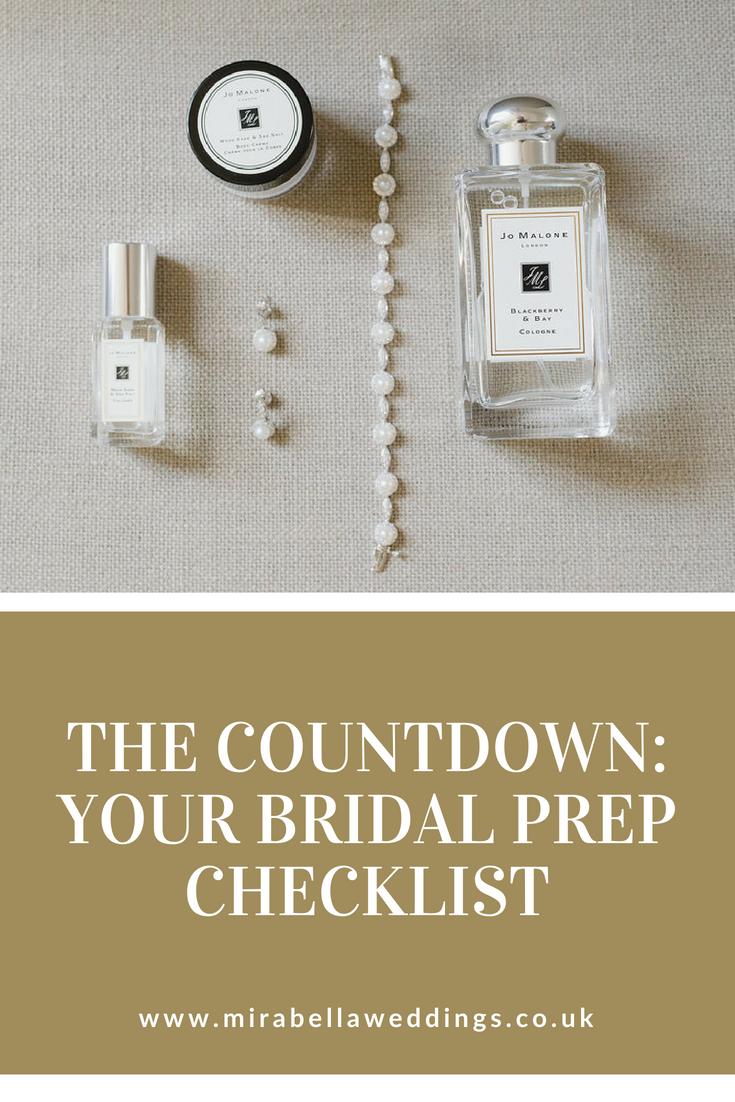 Bridal Prep Checklist - Mirabella Weddings