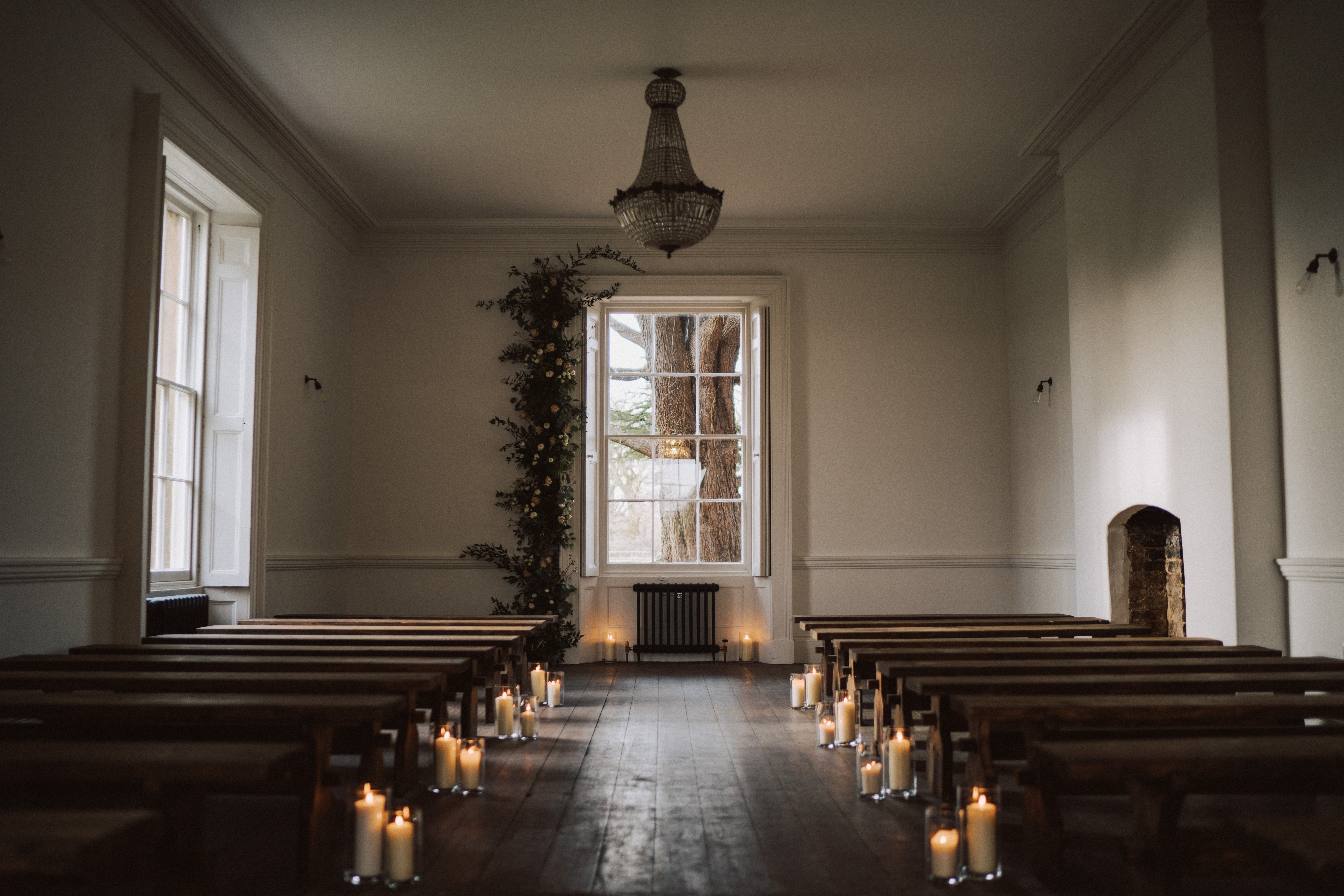 Candlelit Ceremony - Winter Wedding Aswarby Rectory