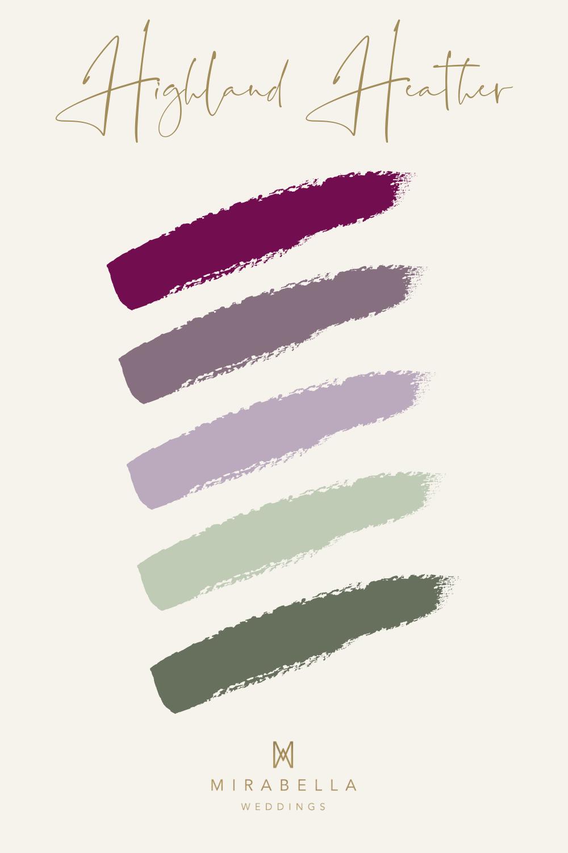 Purple Colour Palette for Autumn Wedding | Mirabella Weddings, UK wedding planner | Luxury weddings across the UK