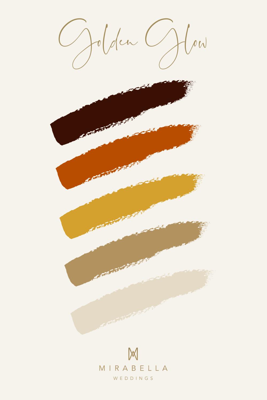 Terracotta & Mustard Autumn Colour Palette | Mirabella Weddings, UK wedding planner | Luxury weddings across the UK