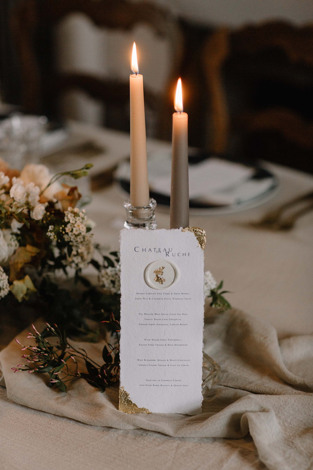 Table styling and decor for a luxury winter wedding | Planned and styled by Mirabella Weddings - a luxury UK and destination wedding planner