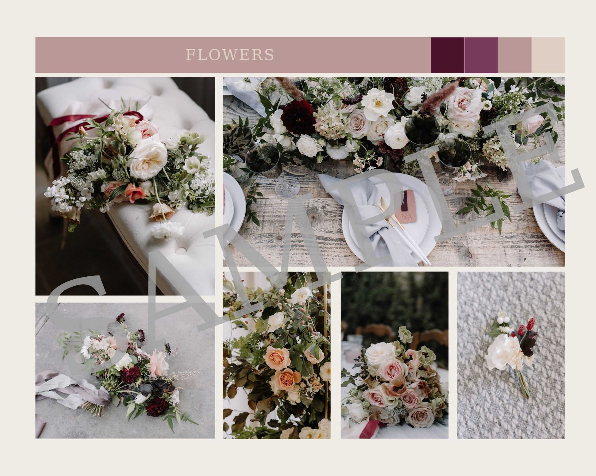 Wedding moodboard template